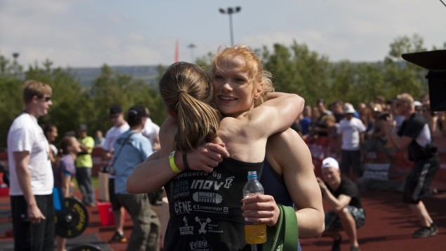 Annie Thorisdottir and Samantha Briggs after event 3